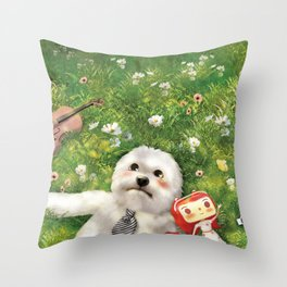 Our Times Throw Pillow
