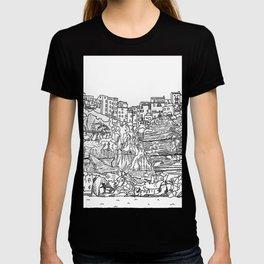 Bonifaccio in Corsica - Line Art T-shirt
