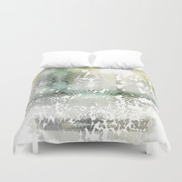 Fractured Silver Duvet Cover