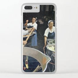 Recipe to Another Dimension - Vintage Collage Clear iPhone Case