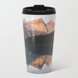 peaceful Moraine lake Travel Mug