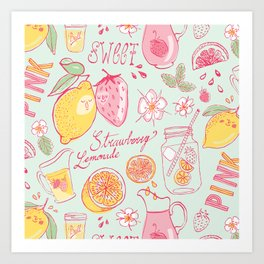 Strawberry Lemonade Art Print
