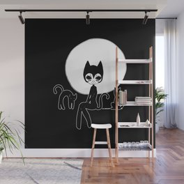 ▴ black cat ▴ Wall Mural