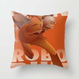 RUN ROBO RUN Throw Pillow