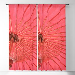 Red umbrella Blackout Curtain