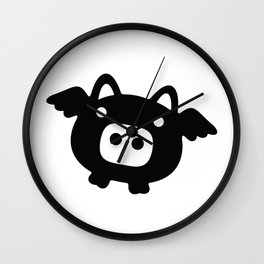 Pigs Will Fly (b&w) Wall Clock