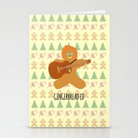 ed sheeran Stationery Cards featuring Gingerbread Ed by Laura Maria Designs