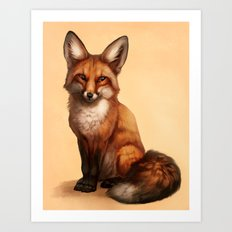 Little Fox Art Print