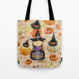 Pumpkins and Witch Tote Bag
