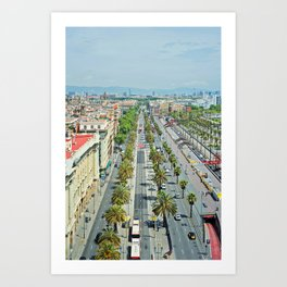 Barcelona from above Art Print