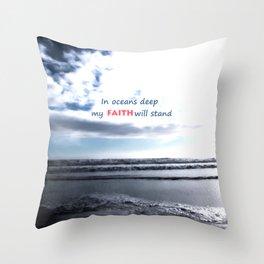 Oceans Deep Throw Pillow
