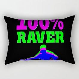 100% RAVER Rectangular Pillow