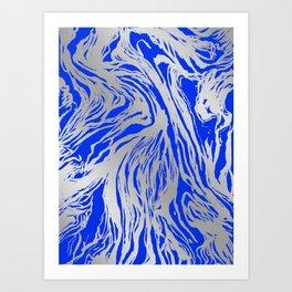 Marbled Blue Art Print