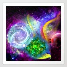 Rainbow space Art Print
