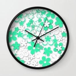 Paper flowers 2 Wall Clock