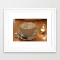 cafe Framed Art Prints featuring Cafe by Madeline