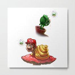 Mario Snailed Metal Print