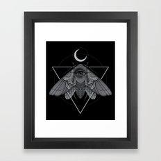 Occult Moth Framed Art Print