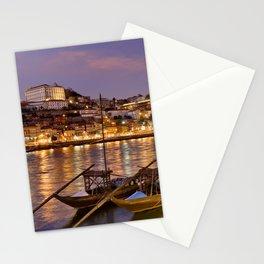 Porto at dusk Stationery Cards