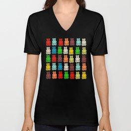 Cute Gummy Bear Candy Collage Unisex V-Neck