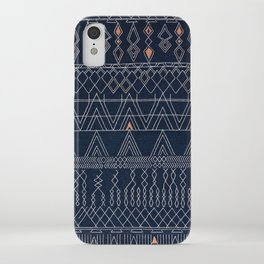 N53 - Blue Indigo Oriental Antique Traditional Moroccan Style Artwork iPhone Case