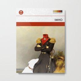 IMHO (MetaBook) Metal Print
