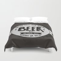 beer Duvet Covers featuring Beer by Juliana Rojas | Puchu
