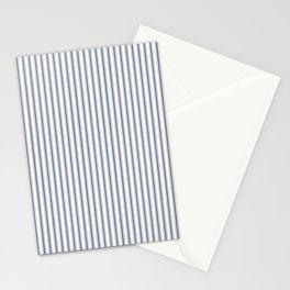 Dark Sargasso Blue Mattress Ticking Narrow Striped Pattern - Fall Fashion 2018 Stationery Cards