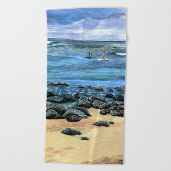Poipu Beach Landscape Beach Towel