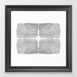 Black leaves Framed Art Print