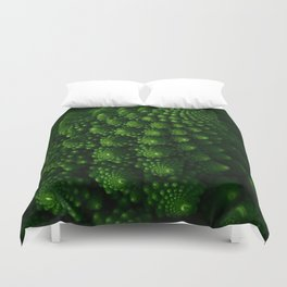Macro Romanesco Broccoli - Low Key Duvet Cover