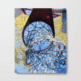 Basketball Art Street Design Metal Print