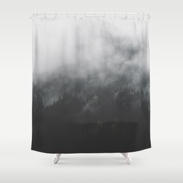 Spectral Forest II - Landscape Photography Shower Curtain