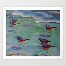 Dance of the Sandpipers Art Print