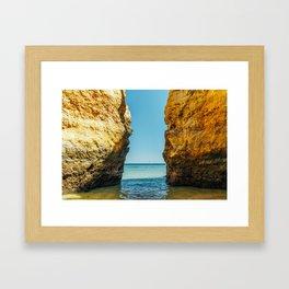 Rocks And Ocean Landscape In Lagos, Wall Art Print, Landscape Art, Poster Decor, Large Photo Framed Art Print