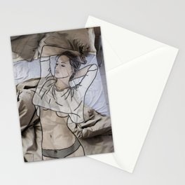 A day in bed Stationery Cards
