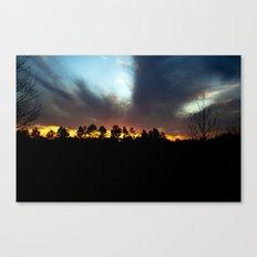 Wintery Sunset Canvas Print
