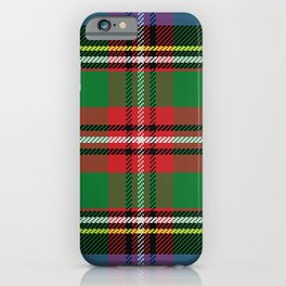 Christmas Colorful Plaid Pattern iPhone Case