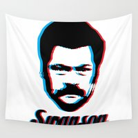swanson Wall Tapestries featuring Swanson by ThePencilClub