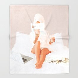 Weekend Morning II Throw Blanket