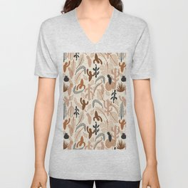 Cactaceae Cream Unisex V-Neck