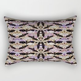Art Nouveau Bats Lavender Pattern Rectangular Pillow