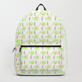 Peach Palm Trees Backpack