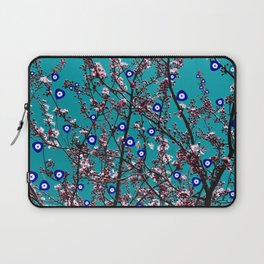 Cherry Blossoms Evil Eyes Laptop Sleeve