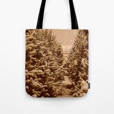 christmas trees past Tote Bag