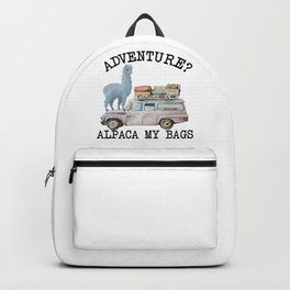 Adventure? Alpaca my bags. Funny Watercolor Traveler Gift Backpack