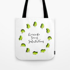 Avocado Sun Salutation Tote Bag