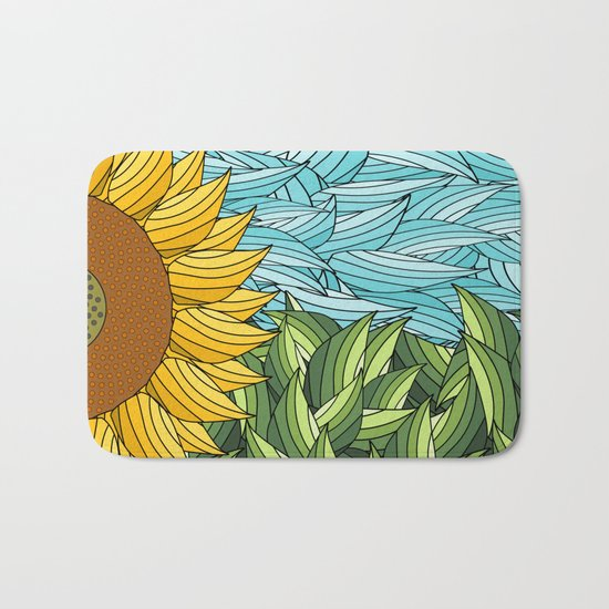 SUNNY DAY (abstract flowers) Bath Mat