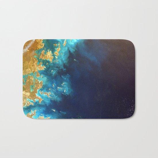 Ocean from above Bath Mat
