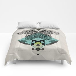 Blue Leopard Comforters